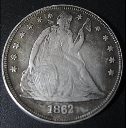 SeTing Antique Great American (1804-1922) Old Morgan Liberty One-Dollar Coins - US Commemorative Coin-Teaching Tool for Kids-Handmade Coin LifeShop 1862