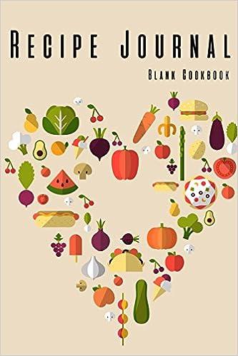 recipe journal blank cookbook journal notebook recipe keeper