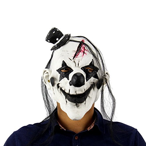 Olibay Halloween Mask Demon Clown Scary Costume Ghost Cosplay Party Rotten Gums (Really Scary Horror Halloween Costumes)