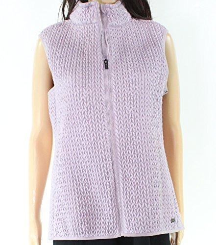 Dkny Puffer Jacket - DKNY Puffer Full-Zip Women's Large Vest Jacket Purple L