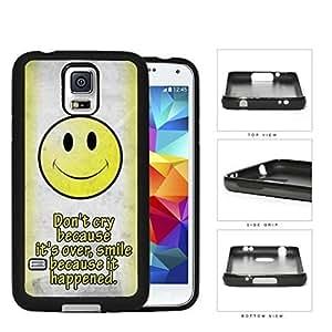 DR. Seuss Smile con texto en inglés de cara sonriente silicona dura PC carcasa para teléfonos móviles Samsung Galaxy S5 SM-G900