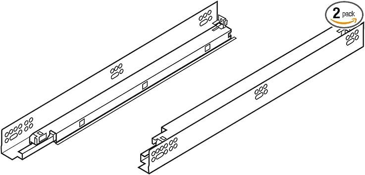 BLUM 563H3050B Tandem Plus Blumotion 12 Drawer Runner Pair for Face Frame Silver
