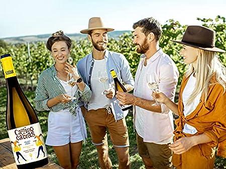 CAMINO DE CABRAS Estuche de vino - Ribeiro - vino blanco – D.O. Ribeiro – Producto Gourmet - Vino para regalar - Vino Premium - 1 botella x 750 ml.