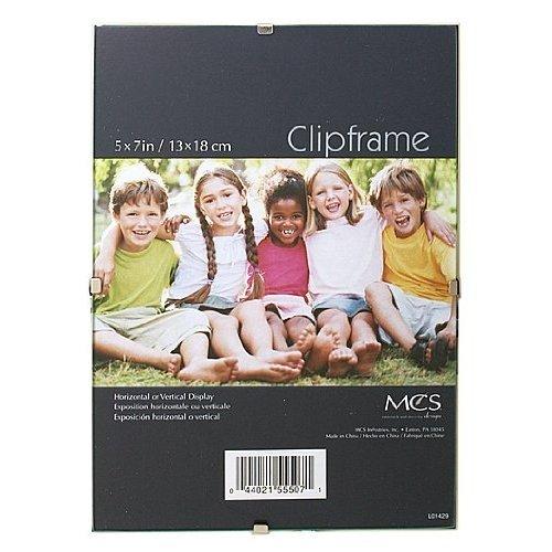 MCS Frameless glass clip frame 5x7-Inch - Glass Clips Frame