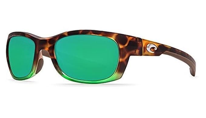 4e340f8e93 Costa Del Mar Trevally GT 77 Matte Tortuga Fade Sunglasses for Mens - Size  580P (Green Mirror Lens)  Amazon.co.uk  Clothing