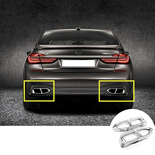 Rear Exhaust Muffler Tail Pipe Cover 2pcs For BMW 7 Series G11 G12 2016 2017