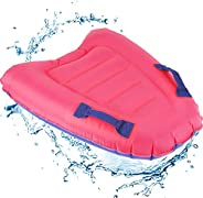 1232131saadaw1231 Portable Inflatable Surfboard Kids Pool Float Mat with Handles Foldable Bodyboard Swimming P