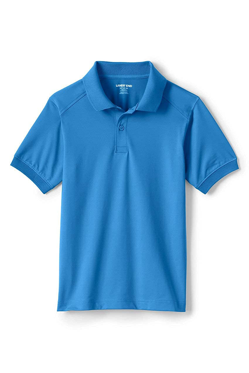 Lands End School Uniform Kids Short Sleeve Rapid Dry Polo Shirt