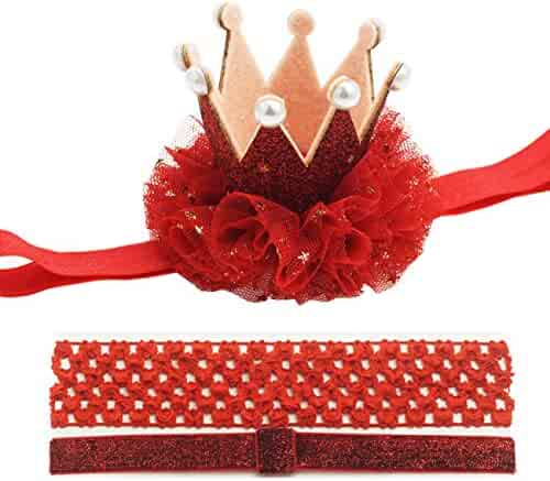 26dfa2fd65f Crown Hair Clip Toddler 1 one Crown Headband for Baby Girl Princess First  Birthday Hat Costume