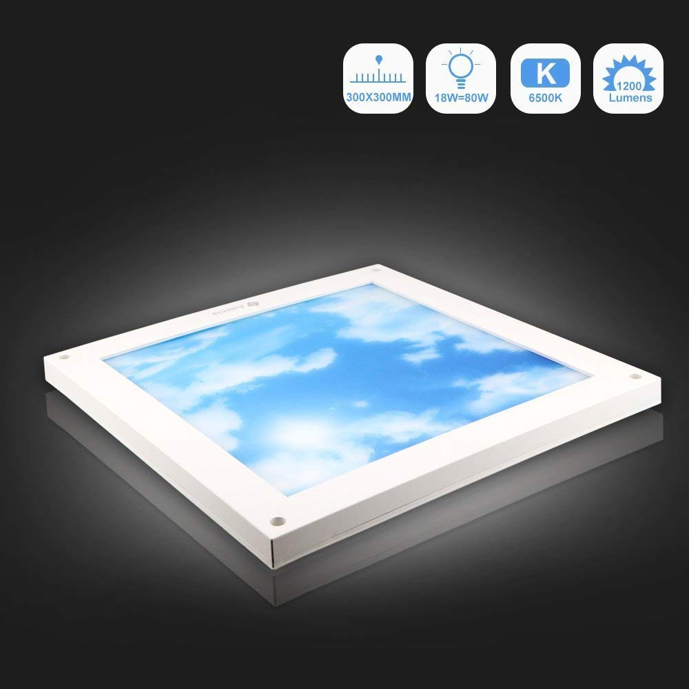 36W LED Ceiling Light Cool White 6500K Panel Light 600x600mm 3000lm Square Awenia Ceiling Lamp for Living Room Office Bed Room Dining Room Kitchen Hallway Balcony [Energy Class A++] 3631-B-BW