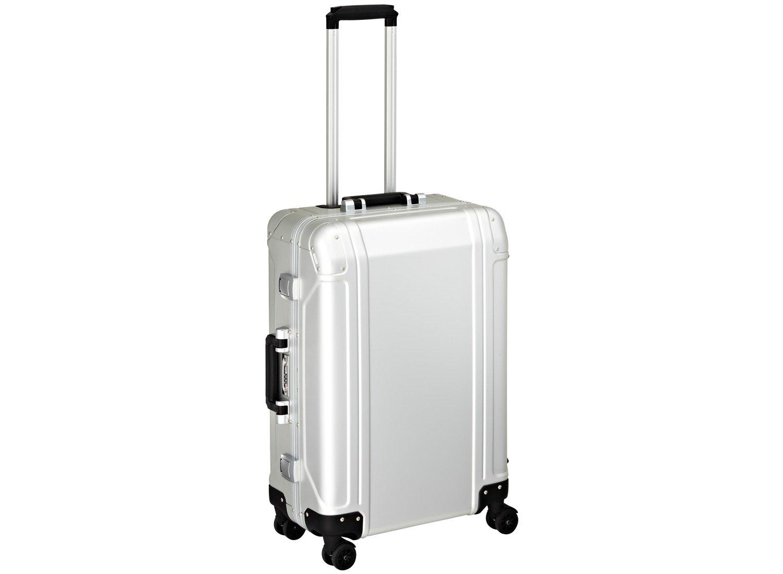 Zero Halliburton Geo Aluminum 24 Inch 4 Wheel Spinner Travel Case, Silver, One Size by ZERO Halliburton