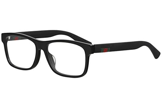 af2089fdc Image Unavailable. Image not available for. Color: Gucci GG 0176O 001 Black  Plastic Rectangle Eyeglasses 56mm