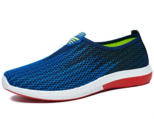 DADAWEN Low Ville Casual Bleu Chaussures Top Mocassins Respirant de Adulte Mesh Homme rAr06U