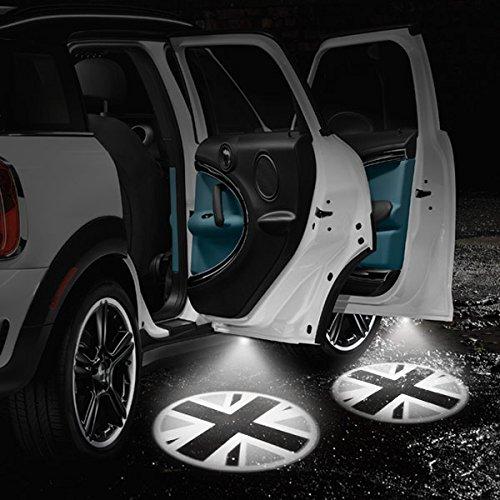 Blackjack GoBadges EP14 LED Door Projection Courtesy Puddle Lights for Mini Cooper