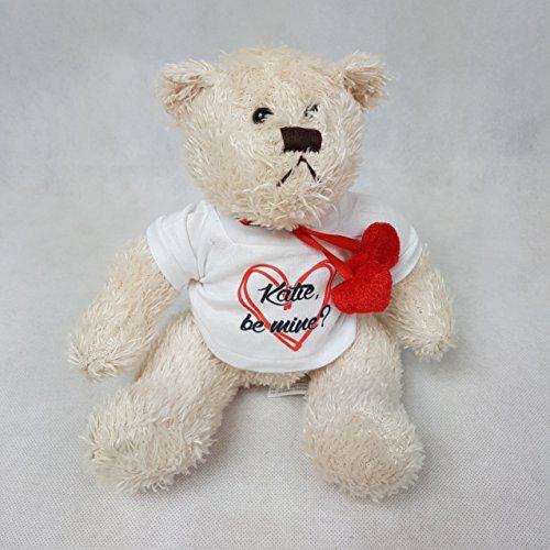 The T Bird Valentines Personalised Bear ~ Be Mine ~ Girlfriend Teddy ~ Boyfriend Teddy ~ Valentie's gift ~ Valentines present ~ Cream bear