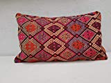 Kilim Pillow – 18x34 Vintage Handmade Ottoman Decor Sitting Kilim Pillow Cover, Giant Cushion