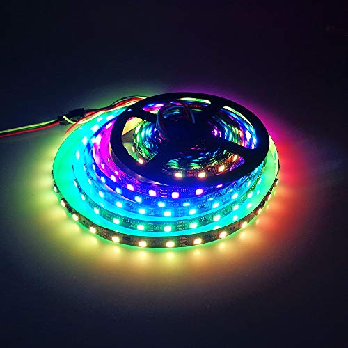 ME 2019 LED Strip Light Kit, New Acrylic Back Tape, 16.4ft Water-Resistant Flexible Multicolor 5050 RGB Lighting + 44 Key IR Remote Control. for Holiday/Home/Store/Party/Indoor/Outdoor Decoration