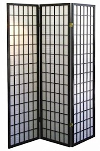 Accent Dividers Screen (Legacy Decor 3 Panel Japanese Oriental Style Room Screen Divider Black Color)