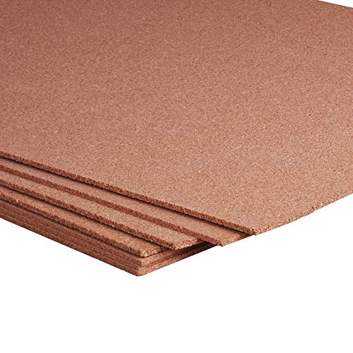 Dark Cork Panel - Manton Cork Sheet, 100% Natural, 4' x 8' x 1/4
