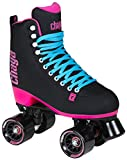 Chaya Melrose Black & Pink Quad Indoor/Outdoor Roller Skates (Euro 39/US 8)