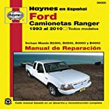 camionetas ford - Ford Camionetas Ranger Manual de Reparacion: 1993 al 2010, Todos Modelos (Haynes Manuals) (Spanish Edition) by Alan Ahlstrand (2011-05-11)