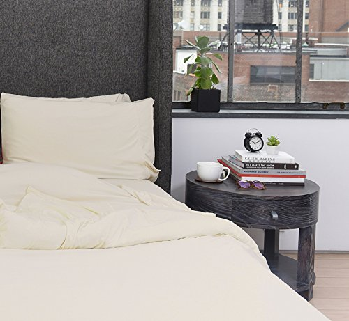 SHEEX - ONE Collection Duvet Cover, Super-Soft Fabric Works to Keep You Cool and Comfortable All Through The Night (Full/Queen, Creme) ()