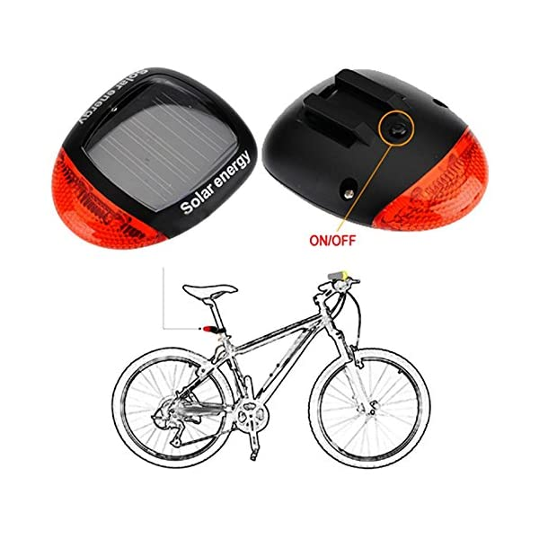 SHARP-EAGLE-2016-Waterproof-Solar-Power-Bike-Bicycle-Rear-Tail-Red-2-LED-4-Mode-Light-LampBicycle-Super-Bright-Solar-Energy-Rechargeable-Cycle-Rear-Tail-LED-Power-Light