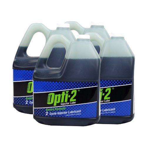 Opti-2 30044 4-Pack 1 Gallon Enviro Formula 2-Cycle Injector Lubricant