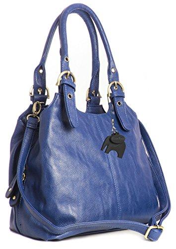 BHBS Bolso Mediano para Dama con Correa Larga para Hombro 33x26x13 cm (LxAxP), Azul - Elektro Blau, Uno