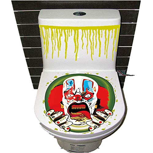 Halloween Decor Clearance KIKOY Thriller Theme Toilet Cover Party Decoration Sticker Prop -