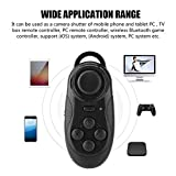 ASHATA Mini Portable Wireless Bluetooth Controller, Remote Gamepad Music Player Camera Shutter for VR Virtual Reality, Ebook iPod Ipad PC iPhone Samsung