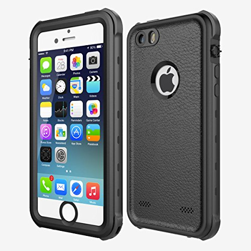 Waterproof Case Compatible iPhone SE/5/5S,iThroughIP68 Underwater Dustproof Snow Proof Shockproof Phone Case,Heavy Duty Protective Carrying Case Cover with Touch ID Compatible iPhone 5S 5 SE