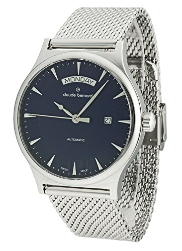 Claude Bernard Gents-Wristwatch Sophisticated Classics Date Weekday Analog Automatic 83014 3M BUIN1