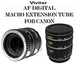 Vivitar 3-Set Macro Extension Tubes of Canon - Black (VIV-EXT-C)