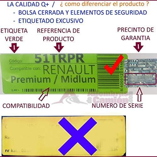 Negro Passform Element 3D Alfombrillas Interior de Coche a Medida TPE Man TGX 18.400 2 pcs 2007- Cami/ón Truck