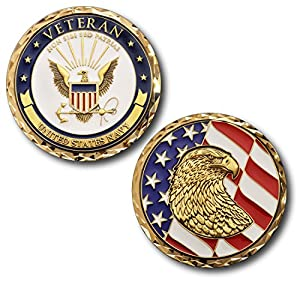 U.S. Navy Veteran Challenge Coin from Armed Forces Depot