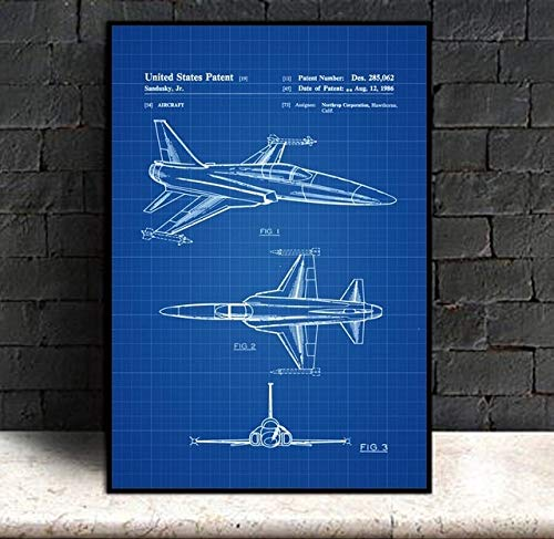 Zamtac Northrop F 20 Tigershark Aircraft Patent Vintage for sale  Delivered anywhere in Canada