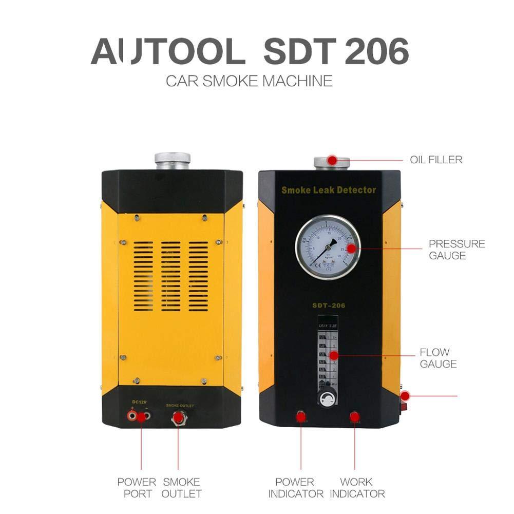 SDT-206 Car Smoke Machines Professional Repairing Adjustable Flowmeter Cars Leak Locator Automotive Diagnostic Leak Detector by Wal front (Image #3)