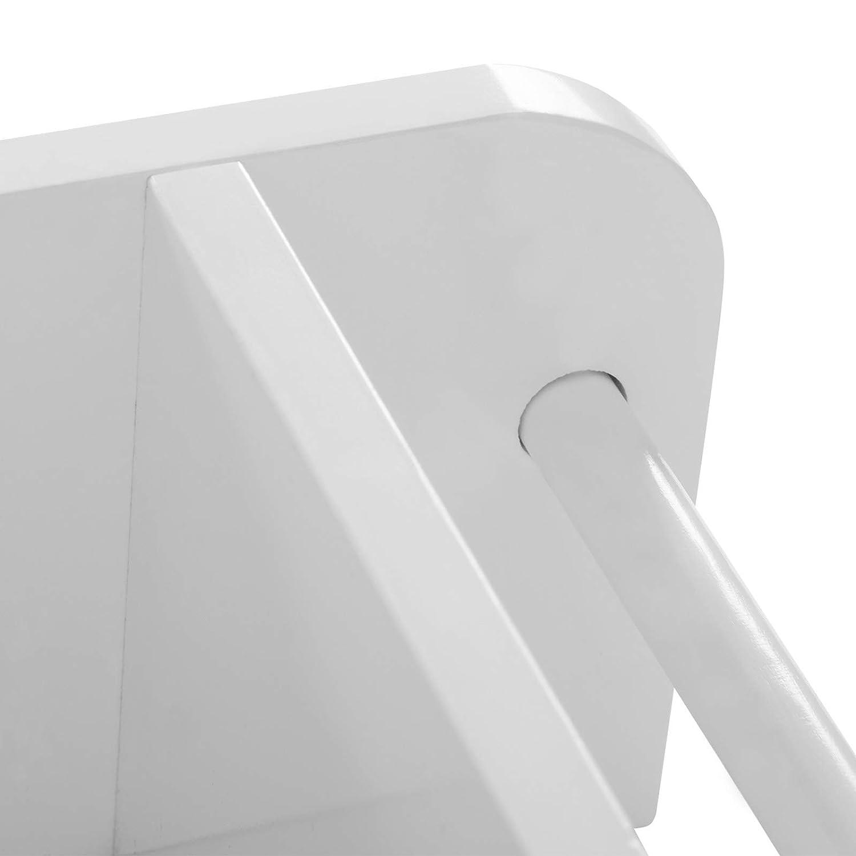 Woltu Armario de Pared Muebles de Ba/ño Colgador para Almacenamiento con 2 Puertas 48,5x65x14,5cm Blanco BZS04ws