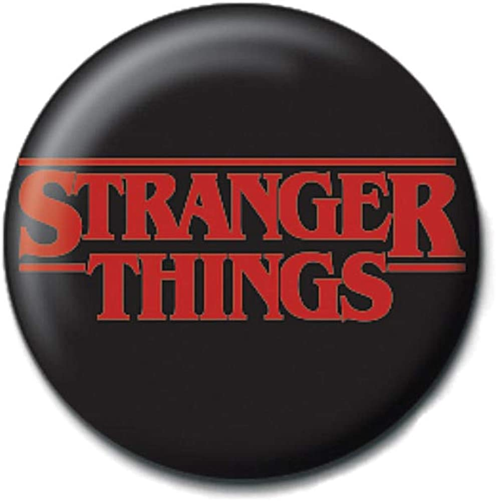 Pritties Accessories Bouton Insigne /épingle de Logo de Choses de Vrai /étranger Insigne Netflix /à lenvers