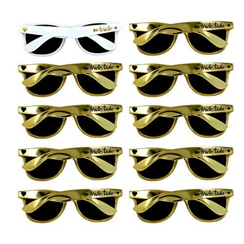 Bridal Shower Favors Bachelorette Party Supplies 10pcs Gold Weddings Sunglasses
