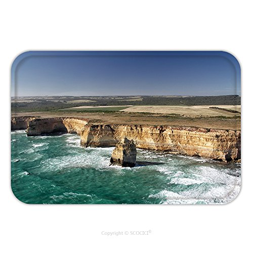 Flannel Microfiber Non-slip Rubber Backing Soft Absorbent Doormat Mat Rug Carpet Aerial View Of The Twelve Apostles At The Great Ocean Road In The Port Campbell National Park 385513876 for - Parks National Yukon In