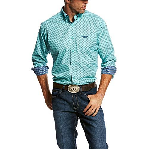 ARIAT Men's Rls Skill Ls Plaid Shirt Aquarena Size Large