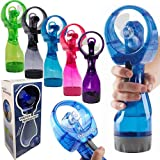 iGifts Inc. Portable Travel Misting Cool Fan Mist Humidifier Spray Bottle Battery Operated