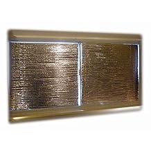"WINDOW INSULATION KIT, 48""x48""(2 PANELS/KIT) DIY REVERSIBLE RADIANT BARRIER REFLECTIVE FOIL PANELS"