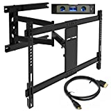 Everstone TV Wall Mount Fit Most 37-75'' Heavy Duty Articulating Full Motion Bracket 25.24'' Extension Arm,LED,LCD Plasma Flat Screen TVs,up to VESA 600mm 110 lbs HDMI Cable &Bubble Level