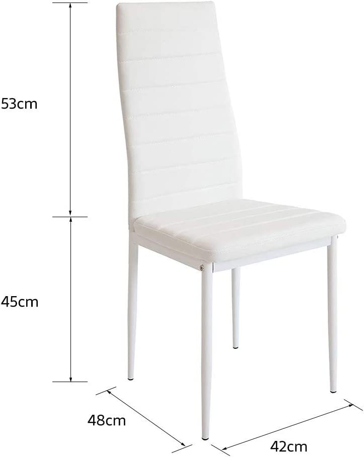 TureFans 6 X Chaise de Salle à Manger ,Style Nordique (Noir) Blanc
