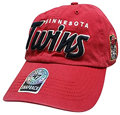 Mlb Minnesota Twins Hat Modesto 47 Brand Cap Clean Up, Adjustable, Red