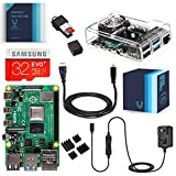 Vilros Raspberry Pi 4 Complete Kit with Clear Transparent Fan Cooled Case (4GB)