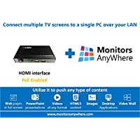 Monitors AnyWhere - Display your content on multiple monitors using a single PC! HDMI over LAN, Video Extender, Thin Global MiniPoint Digital Signage PoE